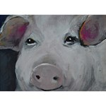 Piggy No. 1 Ribbon 3D Greeting Card (7x5)  Back