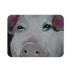 Piggy No  1 Double Sided Flano Blanket (mini)  by timelessartoncanvas