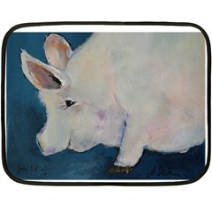 Piggy No  2 Double Sided Fleece Blanket (mini)  by timelessartoncanvas