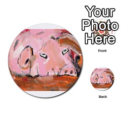 Piggy No 3 Multi-purpose Cards (round)