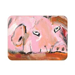 Piggy No 3 Double Sided Flano Blanket (mini)  by timelessartoncanvas