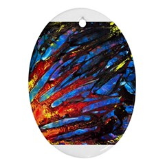 The Looking Glas Ornament (oval)  by timelessartoncanvas