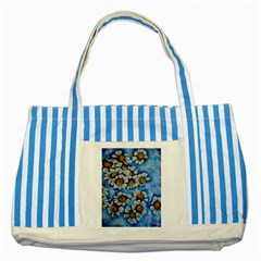 Floating On Air Striped Blue Tote Bag