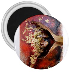 Red Mask 3  Magnets by timelessartoncanvas