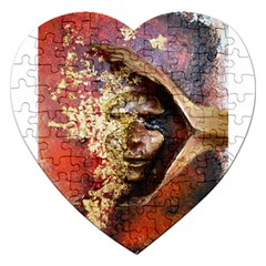 Red Mask Jigsaw Puzzle (heart) by timelessartoncanvas