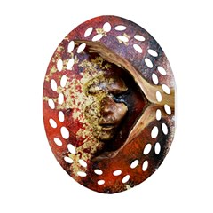 Red Mask Ornament (oval Filigree)  by timelessartoncanvas