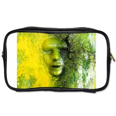 Green Mask Toiletries Bags 2 Side by timelessartoncanvas