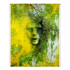 Green Mask Shower Curtain 60  X 72  (medium)  by timelessartoncanvas