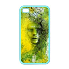 Green Mask Apple Iphone 4 Case (color) by timelessartoncanvas