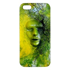 Green Mask Iphone 5s Premium Hardshell Case by timelessartoncanvas