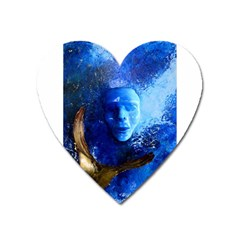 Blue Mask Heart Magnet by timelessartoncanvas