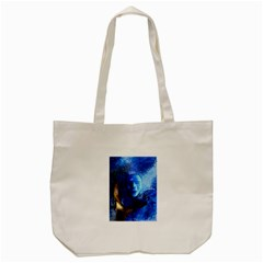 Blue Mask Tote Bag (cream)