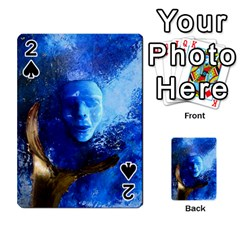 Blue Mask Playing Cards 54 Designs  by timelessartoncanvas