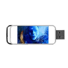 Blue Mask Portable Usb Flash (one Side) by timelessartoncanvas