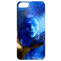 Blue Mask Apple Iphone 5 Classic Hardshell Case by timelessartoncanvas