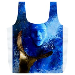 Blue Mask Full Print Recycle Bags (l)  by timelessartoncanvas