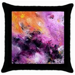 Nebula Throw Pillow Cases (Black) Front