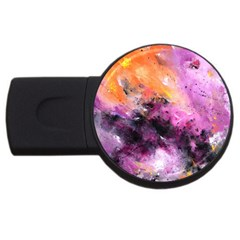 Nebula Usb Flash Drive Round (4 Gb)  by timelessartoncanvas