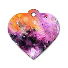 Nebula Dog Tag Heart (two Sides) by timelessartoncanvas