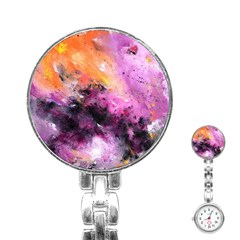 Nebula Stainless Steel Nurses Watches by timelessartoncanvas