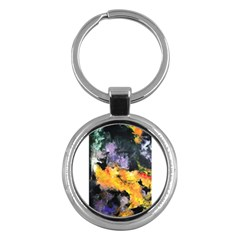 Space Odessy Key Chains (round)  by timelessartoncanvas