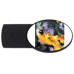 Space Odessy Usb Flash Drive Oval (2 Gb)  by timelessartoncanvas