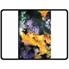 Space Odessy Fleece Blanket (large)  by timelessartoncanvas