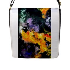 Space Odessy Flap Messenger Bag (l)  by timelessartoncanvas