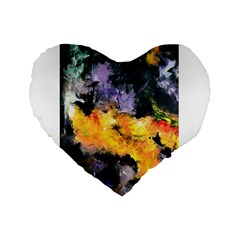 Space Odessy Standard 16  Premium Flano Heart Shape Cushions by timelessartoncanvas