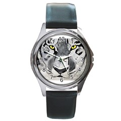 The Eye Of The Tiger Round Metal Watches