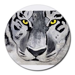 The Eye Of The Tiger Round Mousepads