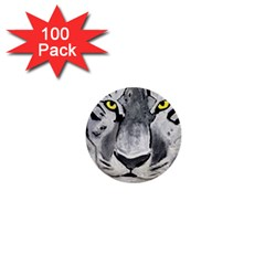 The Eye Of The Tiger 1  Mini Buttons (100 Pack)  by timelessartoncanvas