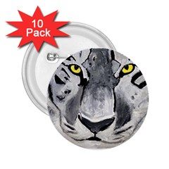 The Eye Of The Tiger 2 25  Buttons (10 Pack)  by timelessartoncanvas