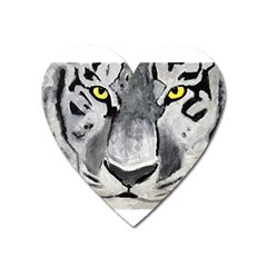 The Eye Of The Tiger Heart Magnet by timelessartoncanvas