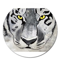 The Eye Of The Tiger Magnet 5  (round) by timelessartoncanvas