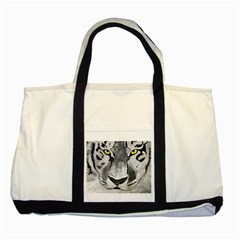 The Eye Of The Tiger Two Tone Tote Bag  by timelessartoncanvas