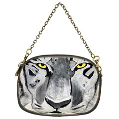 The Eye Of The Tiger Chain Purses (one Side)  by timelessartoncanvas
