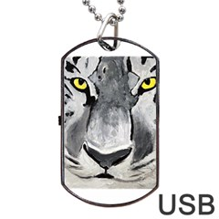 The Eye Of The Tiger Dog Tag Usb Flash (two Sides)  by timelessartoncanvas