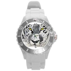 The Eye Of The Tiger Round Plastic Sport Watch (l) by timelessartoncanvas