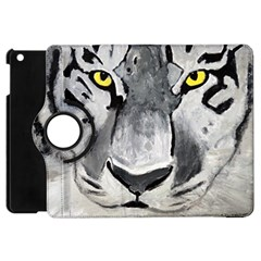 The Eye Of The Tiger Apple Ipad Mini Flip 360 Case by timelessartoncanvas