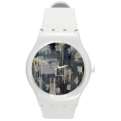 The Dutiful Rise Round Plastic Sport Watch (m) by timelessartoncanvas