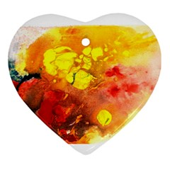 Fire, Lava Rock Ornament (heart)  by timelessartoncanvas