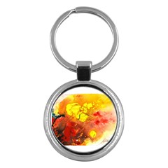 Fire, Lava Rock Key Chains (round)  by timelessartoncanvas