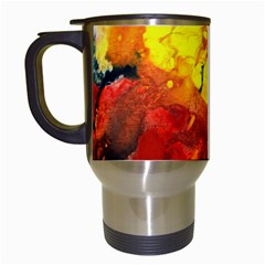 Fire, Lava Rock Travel Mugs (white) by timelessartoncanvas