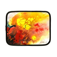 Fire, Lava Rock Netbook Case (small)  by timelessartoncanvas