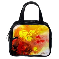 Fire, Lava Rock Classic Handbags (one Side)