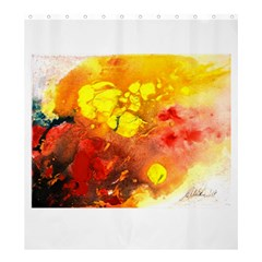 Fire, Lava Rock Shower Curtain 66  X 72  (large)  by timelessartoncanvas