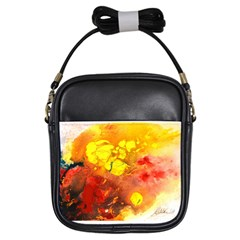 Fire, Lava Rock Girls Sling Bags