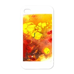 Fire, Lava Rock Apple Iphone 4 Case (white)