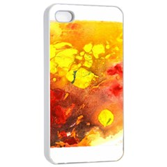 Fire, Lava Rock Apple Iphone 4/4s Seamless Case (white)